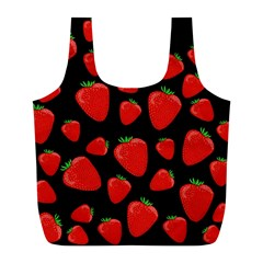 Strawberries Pattern Full Print Recycle Bags (l)  by Valentinaart
