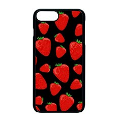 Strawberries Pattern Apple Iphone 7 Plus Seamless Case (black) by Valentinaart