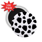 Black strawberries pattern 2.25  Magnets (100 pack)  Front