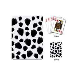 Black Strawberries Pattern Playing Cards (mini)