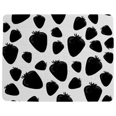Black Strawberries Pattern Jigsaw Puzzle Photo Stand (rectangular) by Valentinaart