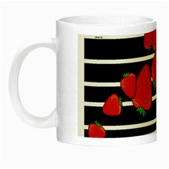 Strawberries  Night Luminous Mugs by Valentinaart