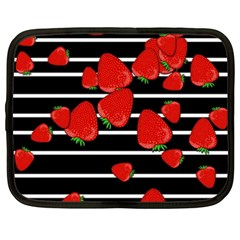 Strawberries  Netbook Case (xxl)  by Valentinaart