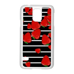 Strawberries  Samsung Galaxy S5 Case (white) by Valentinaart