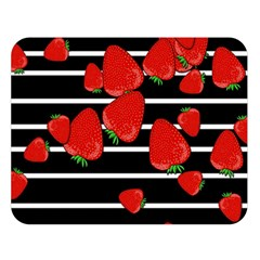 Strawberries  Double Sided Flano Blanket (large)