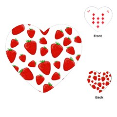 Decorative Strawberries Pattern Playing Cards (heart)  by Valentinaart