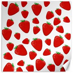 Decorative Strawberries Pattern Canvas 20  X 20   by Valentinaart