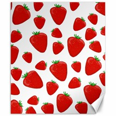 Decorative Strawberries Pattern Canvas 20  X 24   by Valentinaart