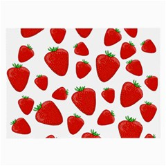 Decorative Strawberries Pattern Large Glasses Cloth by Valentinaart