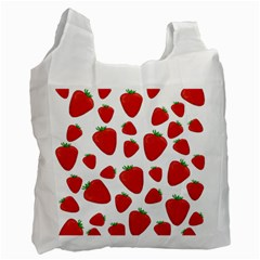 Decorative Strawberries Pattern Recycle Bag (two Side)