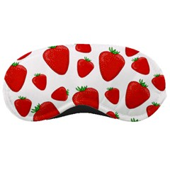 Decorative Strawberries Pattern Sleeping Masks by Valentinaart