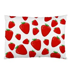 Decorative Strawberries Pattern Pillow Case (two Sides) by Valentinaart
