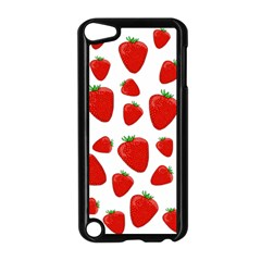 Decorative Strawberries Pattern Apple Ipod Touch 5 Case (black) by Valentinaart