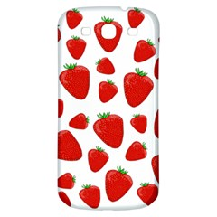Decorative Strawberries Pattern Samsung Galaxy S3 S Iii Classic Hardshell Back Case by Valentinaart
