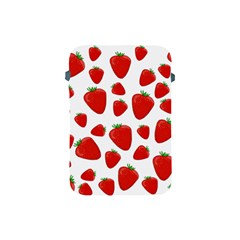 Decorative Strawberries Pattern Apple Ipad Mini Protective Soft Cases by Valentinaart