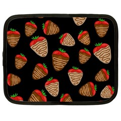 Chocolate Strawberries Pattern Netbook Case (large) by Valentinaart