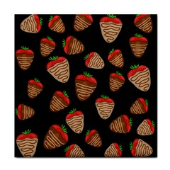 Chocolate Strawberries Pattern Face Towel by Valentinaart