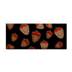 Chocolate Strawberries Pattern Cosmetic Storage Cases by Valentinaart