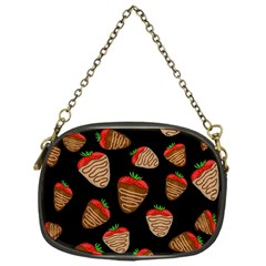 Chocolate Strawberries Pattern Chain Purses (one Side)  by Valentinaart