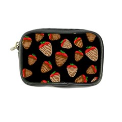Chocolate Strawberries Pattern Coin Purse by Valentinaart