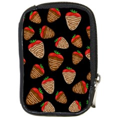 Chocolate Strawberries Pattern Compact Camera Cases by Valentinaart
