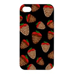 Chocolate Strawberries Pattern Apple Iphone 4/4s Premium Hardshell Case by Valentinaart