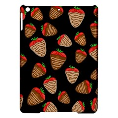 Chocolate Strawberries Pattern Ipad Air Hardshell Cases by Valentinaart