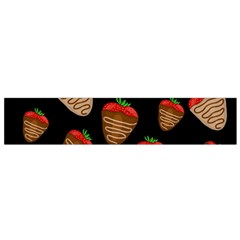 Chocolate Strawberries Pattern Flano Scarf (small) by Valentinaart
