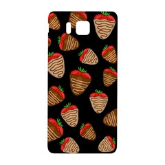 Chocolate Strawberries Pattern Samsung Galaxy Alpha Hardshell Back Case