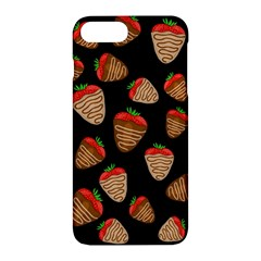 Chocolate Strawberries Pattern Apple Iphone 7 Plus Hardshell Case by Valentinaart