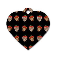 Chocolate Strawberies Dog Tag Heart (one Side)