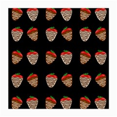 Chocolate Strawberies Medium Glasses Cloth (2 Side) by Valentinaart