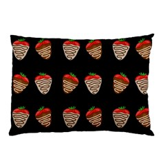 Chocolate Strawberies Pillow Case by Valentinaart