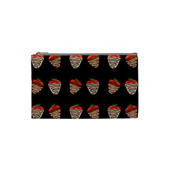Chocolate Strawberies Cosmetic Bag (small)  by Valentinaart