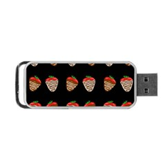 Chocolate Strawberies Portable Usb Flash (one Side) by Valentinaart
