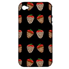 Chocolate Strawberies Apple Iphone 4/4s Hardshell Case (pc+silicone) by Valentinaart