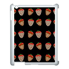 Chocolate Strawberies Apple Ipad 3/4 Case (white) by Valentinaart