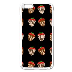 Chocolate Strawberies Apple Iphone 6 Plus/6s Plus Enamel White Case by Valentinaart