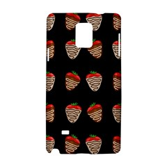 Chocolate Strawberies Samsung Galaxy Note 4 Hardshell Case by Valentinaart
