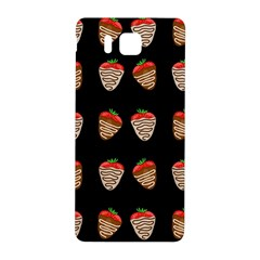 Chocolate Strawberies Samsung Galaxy Alpha Hardshell Back Case by Valentinaart