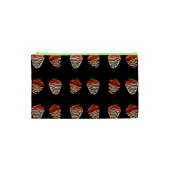 Chocolate Strawberies Cosmetic Bag (xs) by Valentinaart