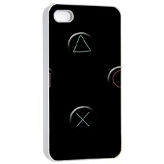 Joystick  Apple Iphone 4/4s Seamless Case (white) by Valentinaart