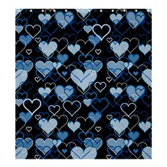 Blue Harts Pattern Shower Curtain 66  X 72  (large)  by Valentinaart