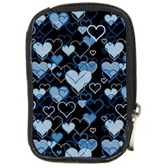 Blue Harts Pattern Compact Camera Cases by Valentinaart