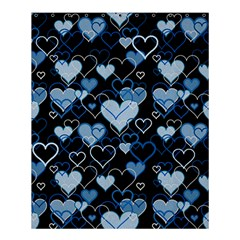 Blue Harts Pattern Shower Curtain 60  X 72  (medium)  by Valentinaart
