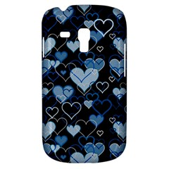 Blue Harts Pattern Galaxy S3 Mini by Valentinaart