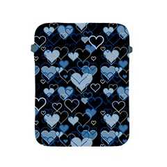 Blue Harts Pattern Apple Ipad 2/3/4 Protective Soft Cases by Valentinaart