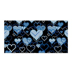 Blue Harts Pattern Satin Wrap by Valentinaart