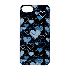 Blue Harts Pattern Apple Iphone 7 Hardshell Case by Valentinaart