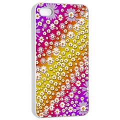 Falling Flowers From Heaven Apple Iphone 4/4s Seamless Case (white) by pepitasart